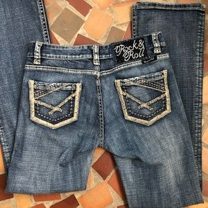 Rock And Roll Cowgirl Mid Rise Jeans